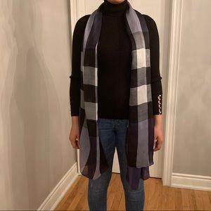 Burberry Mega check silk satin scarf